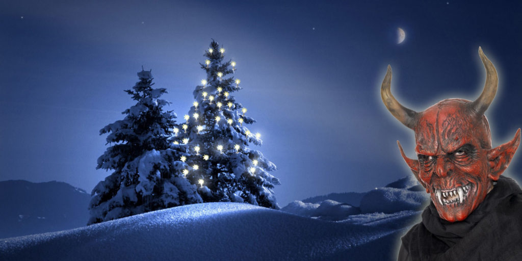 Vánoční stromek s čertem